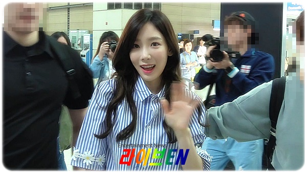 [LIVE Video] 'SNSD' TaeYeon departing the Incheon International Airport to Taipei ~